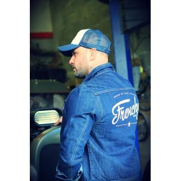 Casquette Trucker STAR blue & white