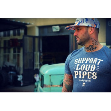Tshirt BRAP blue short sleeves