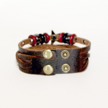 Bracelet adjustable STAR red